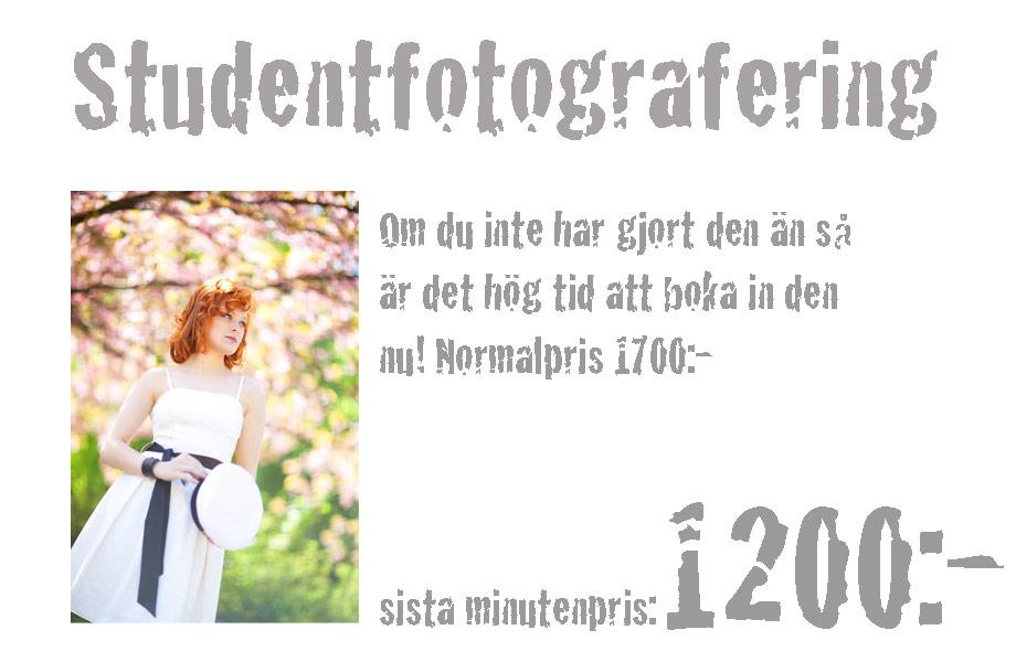 Sista minuten för Studentfotografering