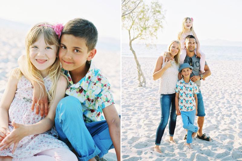 Familjefotografering på Kos